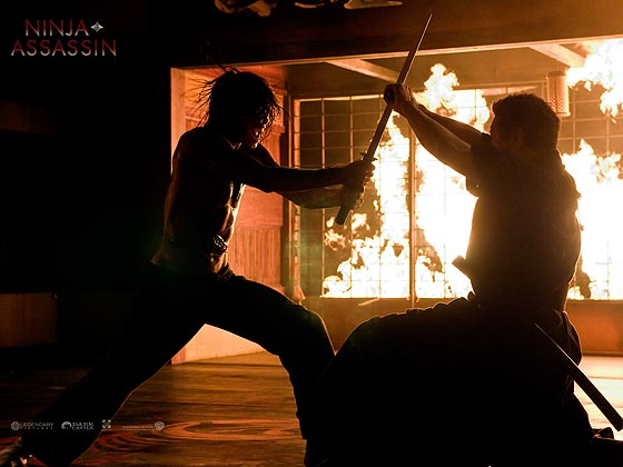 Still from Ninja Assassin fight scene