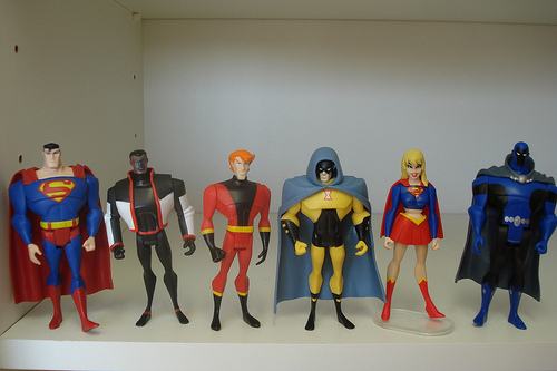 JLU 6-pack Heroes by Baby Diana via Flickr